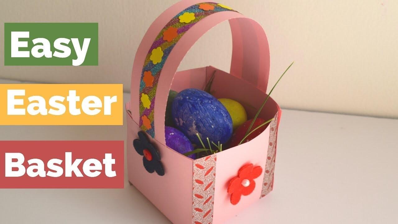 Diy Easter Basket For Kids Mini Paper Easter Basket Easter Basket