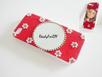 DIY Glitter Cell Case With Mirror