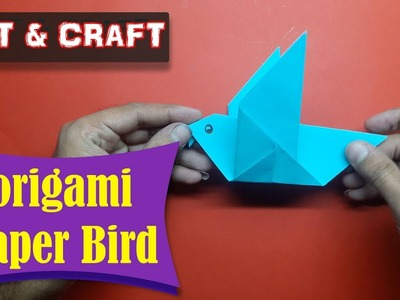 DIY  How to make an origami paper Bird || Open Mind