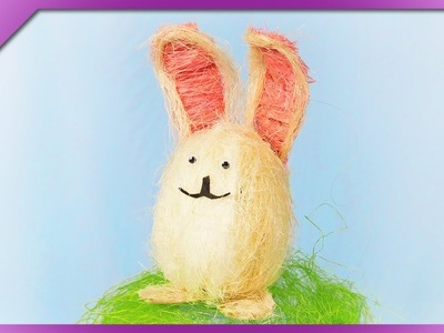 DIY How to make Easter bunny out of sisal (ENG Subtitles) - Speed up #472