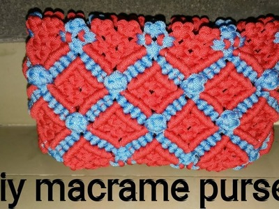 Diy how to make macrame purse # design 21