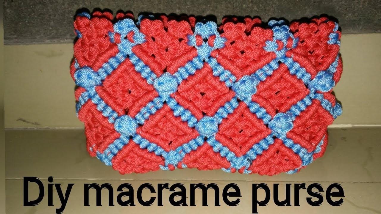 Diy how to make macrame purse # design 21