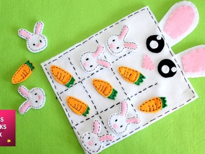 DIY : How to make the Easter Tic-Tac-Toe board game. Easter crafts - Kids Crafts