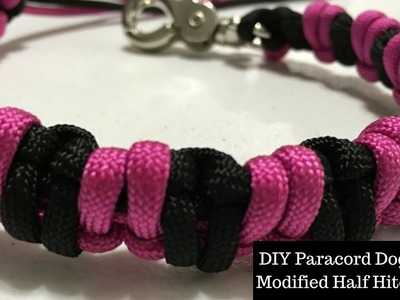 DIY Paracord Dog Leash - Modified Half Hitch Knot