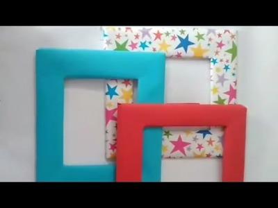 DIY photo frames new by cardboard
