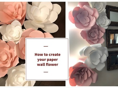 DIY Rose tutorial. how to make paper flower