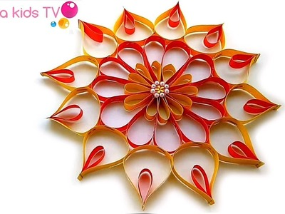 DIY Wall Decor Paper Flower.how to make a paper flower for wall decoration