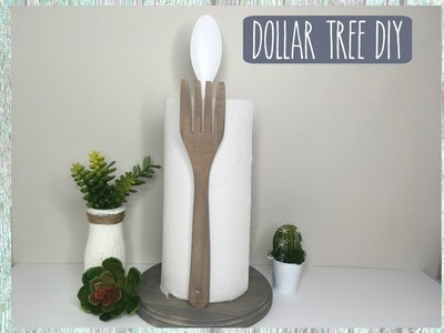 DOLLAR TREE DIY FARMHOUSE PAPER TOWEL HOLDER | HOME DECOR