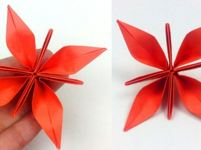 Flor Estrella Fantástica de Papel - Origami | Fantastic Paper Star Flower - como hacer flor papel