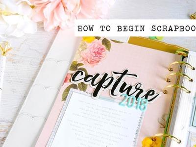 How to begin scrapbooking