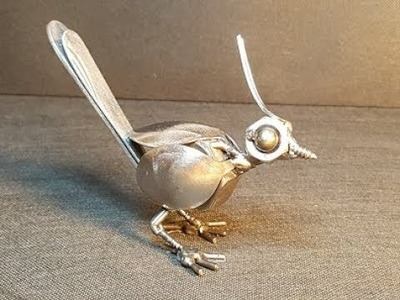 HOW TO BUILD A LITTLE BIRD SCULPTURE FROM WELDING RECYCLED SCRAP METAL