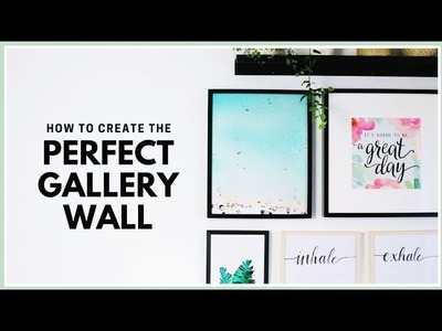 How to Create & Arrange the Perfect Gallery Wall | DIY Gallery Wall Art