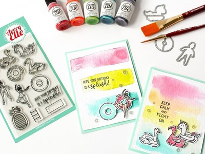 How To Create Quick & Easy Watercolor Backgrounds With Avery Elle Liquid Watercolors - Satur-YAY!