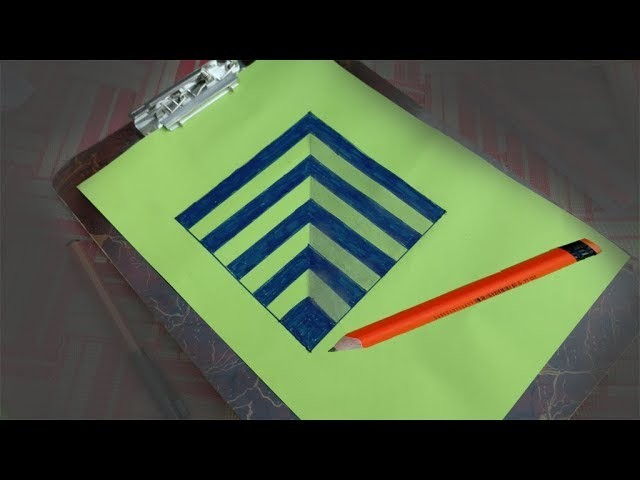 How to draw|3d art on paper|easy 3d pencil art Drawing