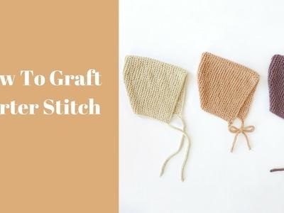 How to graft garter stitch