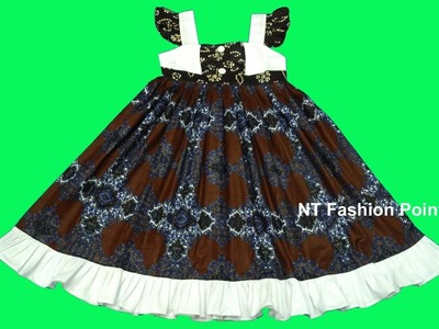 How to learn cotton summer baby girls dress designs   Cutting & Stitching