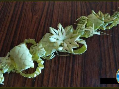 How to make a date leaves bouquet. खजूर के पत्ते से पुष्पगुच्छ कैसे बनाए।