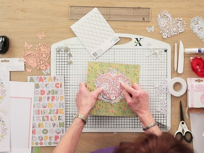 How to make a die-cut wedding box frame with Angela Johnson