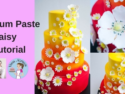 How to make a Gum Paste Daisy - Gumpaste Daisy Tutorial | Sugar Daisy