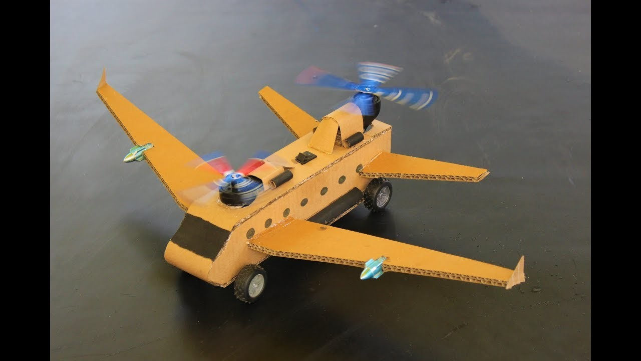 How To Make a Helicopter Airplane - Aeroplane