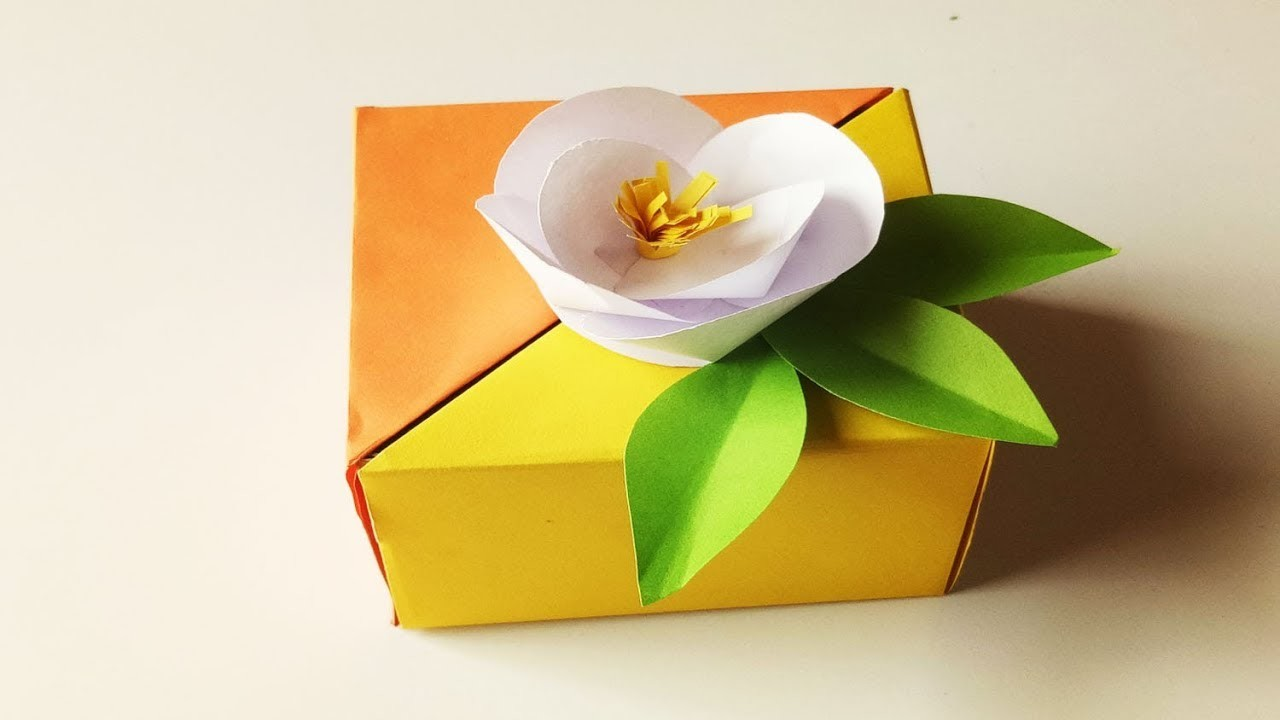 How to make a paper gift box.Explosion Box Tutorial.