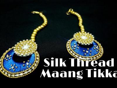 How To Make a Silk Thread Maang Tikka.How To Make Rajasthani Maang tikka