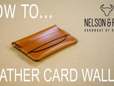 How to Make a Simple Leather Card Holder