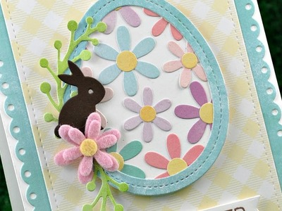 How to make an Easter card with die cuts