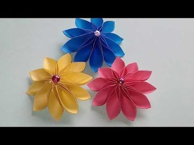 Simple how to make paper daffodils flower making paper flowers how to make an easy paper flowerorigami flower mightylinksfo