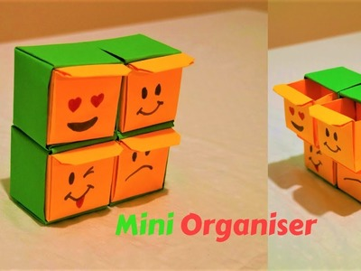 How to make an origami organizer-mini organizer-emoji paper organizer