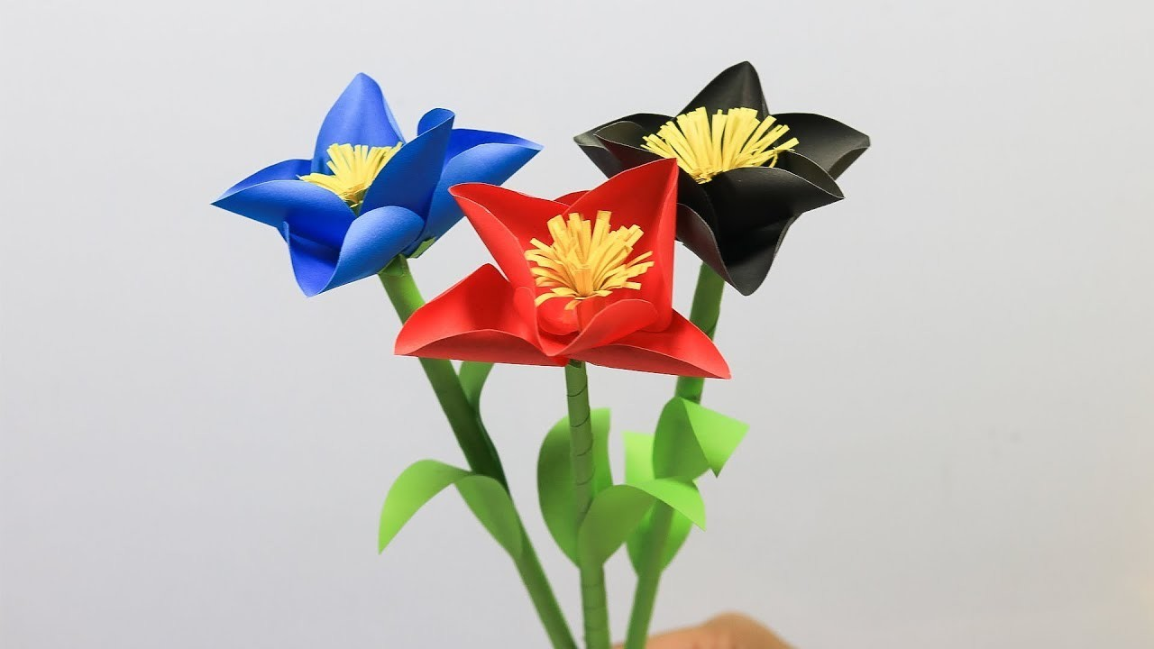 How To Make Beautiful Paper Flowers Paper Flower Making Diy Paper