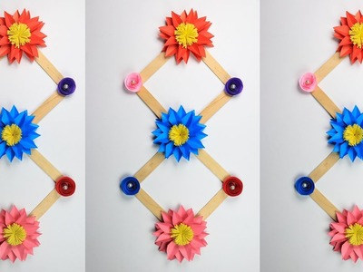 How to Make Beautiful Wall Hanging With Paper & Ice cream Stick | Wall Decoration Idea