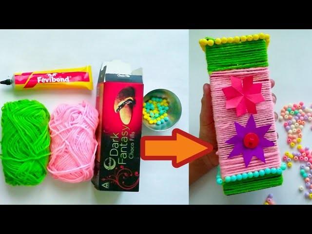 How To Make Best Out Of Waste Flower Vase Wool Flower Vase Wealth