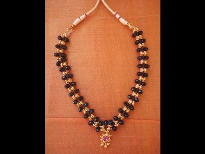 How to make black mangalsutra