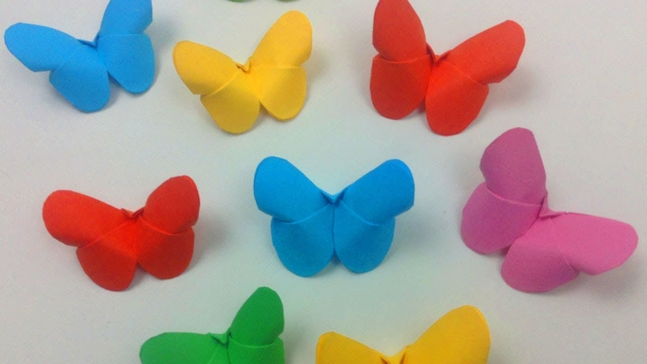How to make easy origami paper butterflies
