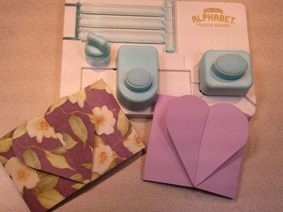 How To Make Interlocking A Gatefold Heart || Mini Alphabet Punch Board