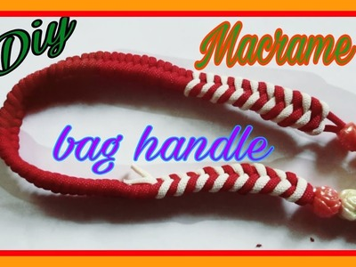 How to make Macrame bag handle.New design bag handle.simple and easy