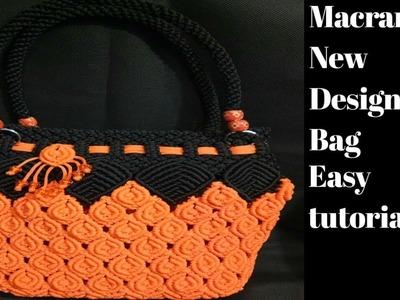 How to make macrame new design bag