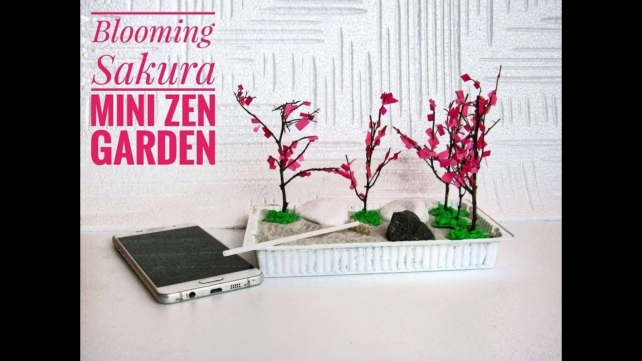 How To Make Mini Blooming Sakura Zen Garden Diy Stress