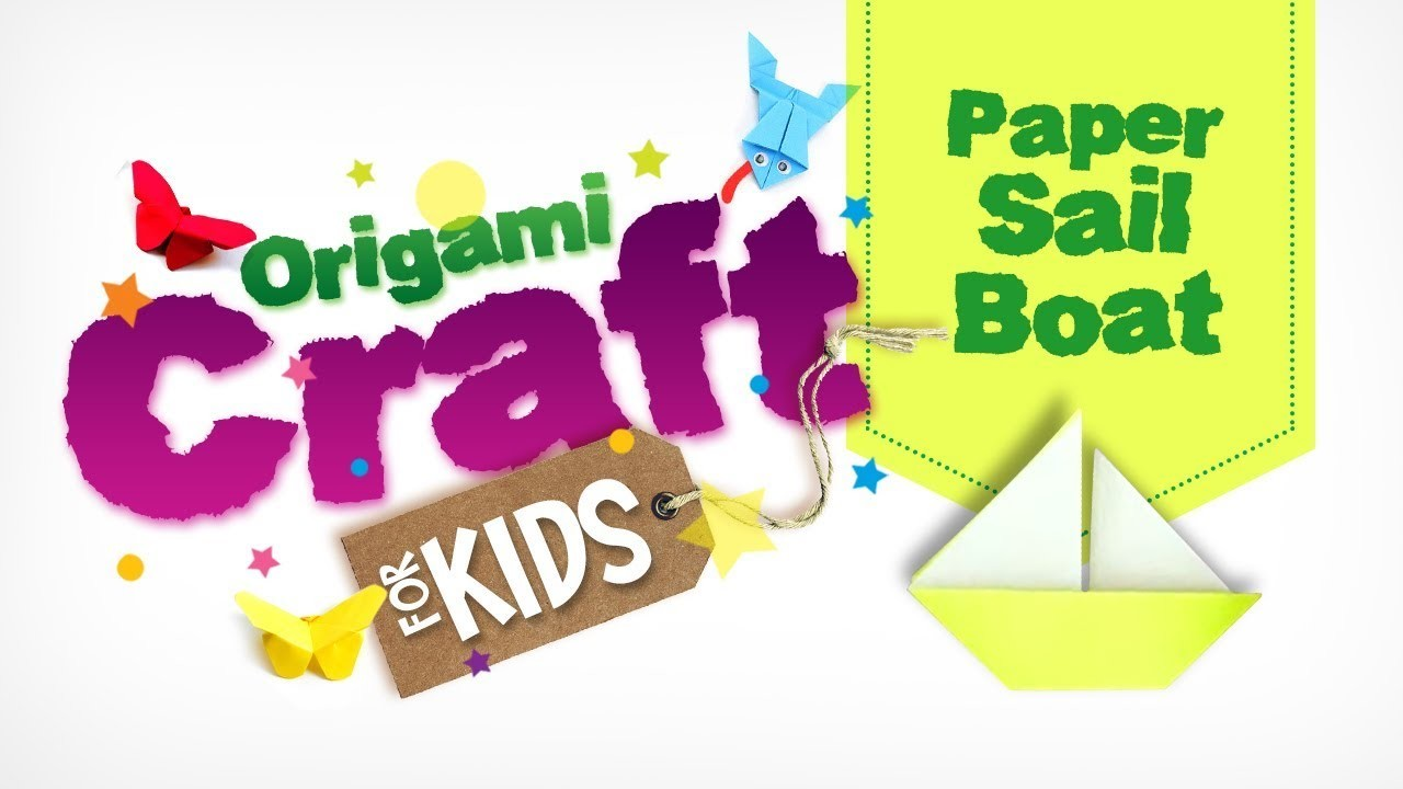 How to make Origami Paper Sail Boat in tamil   Origami Craft for Kids   Easy Paper Craft   DIY Craft
