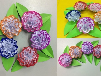 How to Make Paper Carnation Flower | Making Paper Flowers Step by Step | DIY-Paper Crafts