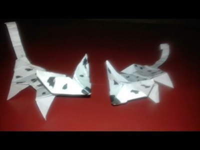 How to make paper dog.