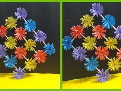 How to make Paper Flower Wall Hanging - DIY Hanging Flower - Paper Flowers - Kagojer ful