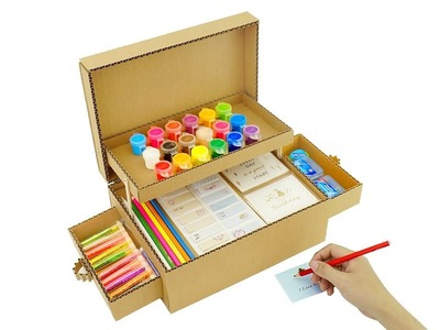 How to Make Pencil Organizer from Carboard