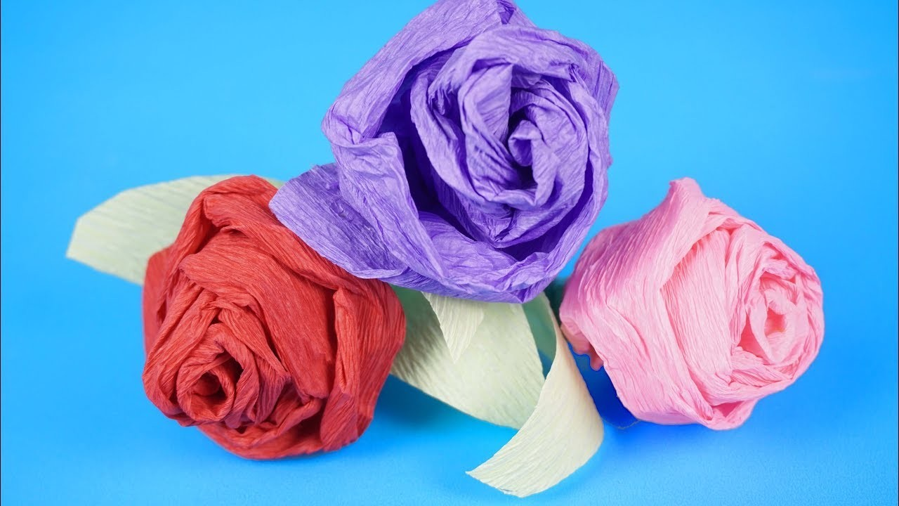 How To Make Realistic And Easy Paper Rose (Complete Tutorial)