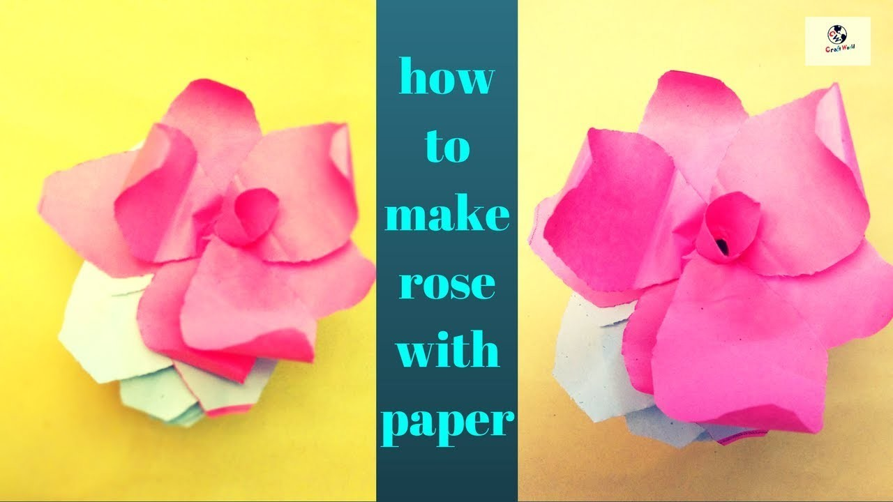 How To Make Rose With Paperdiy Easy Flowers With Paper At Home