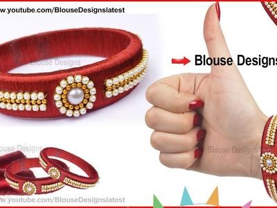How To Make Silk Thread Bangles, silk thread designer bangles, silk thread jewellery making