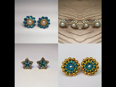 How to make Silk Thread Studs for Jhumkas at Home