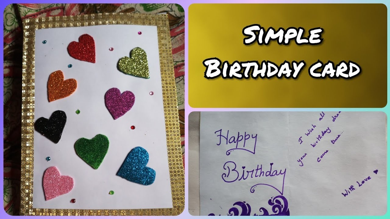 How To Make Simple Birthday Greeting Card