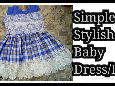 HOW to make Simple Stylish Baby Dress.summer baby frock.Baby frock.designer lawn frock.tutorial.diy